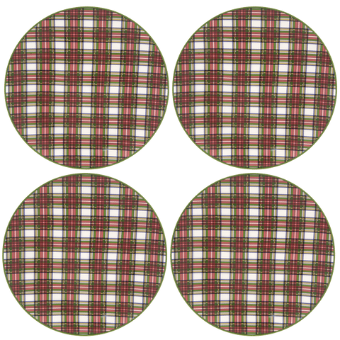 "Tartan Salad Plate 8 1/4"" (Set of 4)"