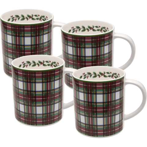 Tartan Mug 11 oz (Set of 4)