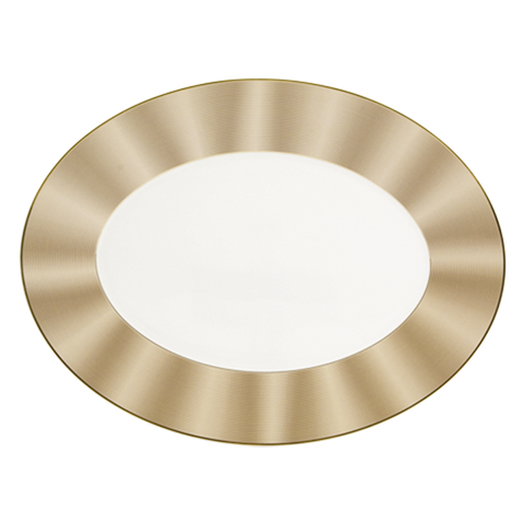 Silk Champagne Oval Platter 15-1/2""