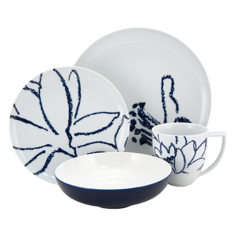 Artist Blue 4-Piece Place Setting