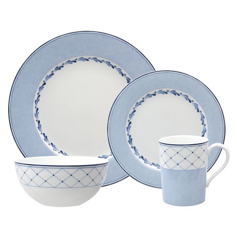 Blue Brushstroke 4-Piece Place Setting