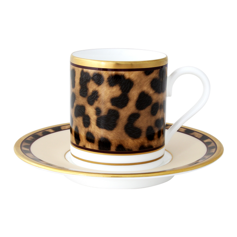 Desert Leopard Espresso cup and saucer (Set of 2)