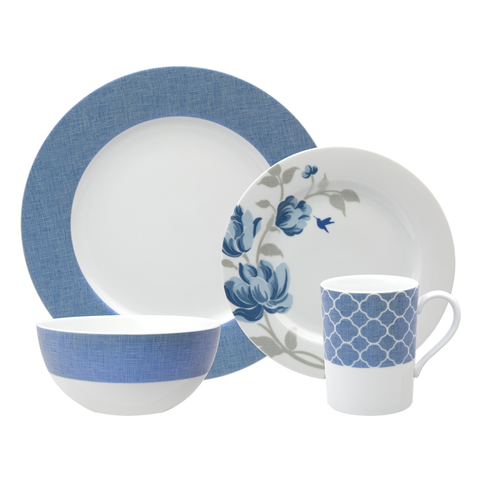 Fanciful Blue 4-Piece Place Setting