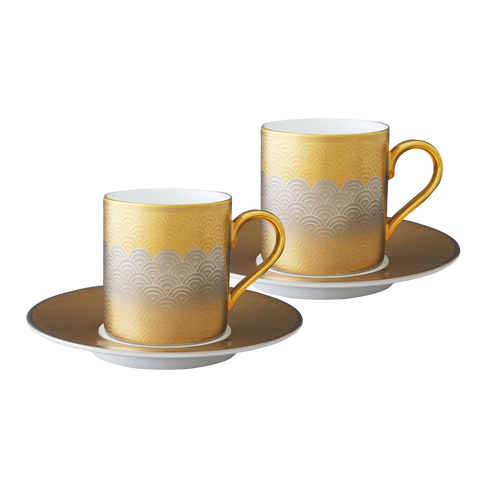 Fortune Espresso cup and saucer (Set of 2)