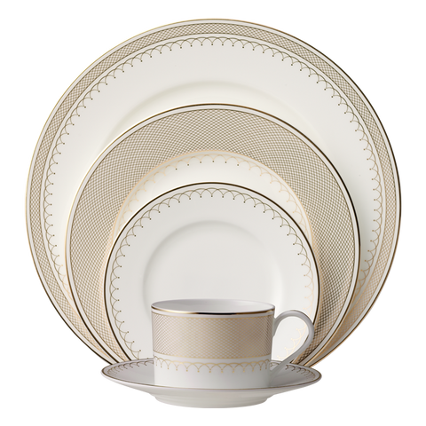 Lattice Gold 5-Piece Place Setting