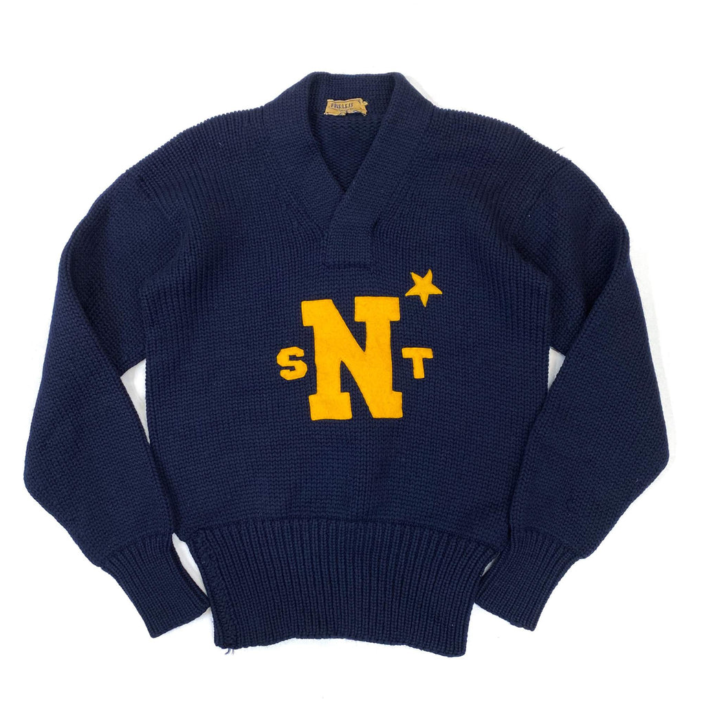 """SNT"" Lettering Knit Sweater"