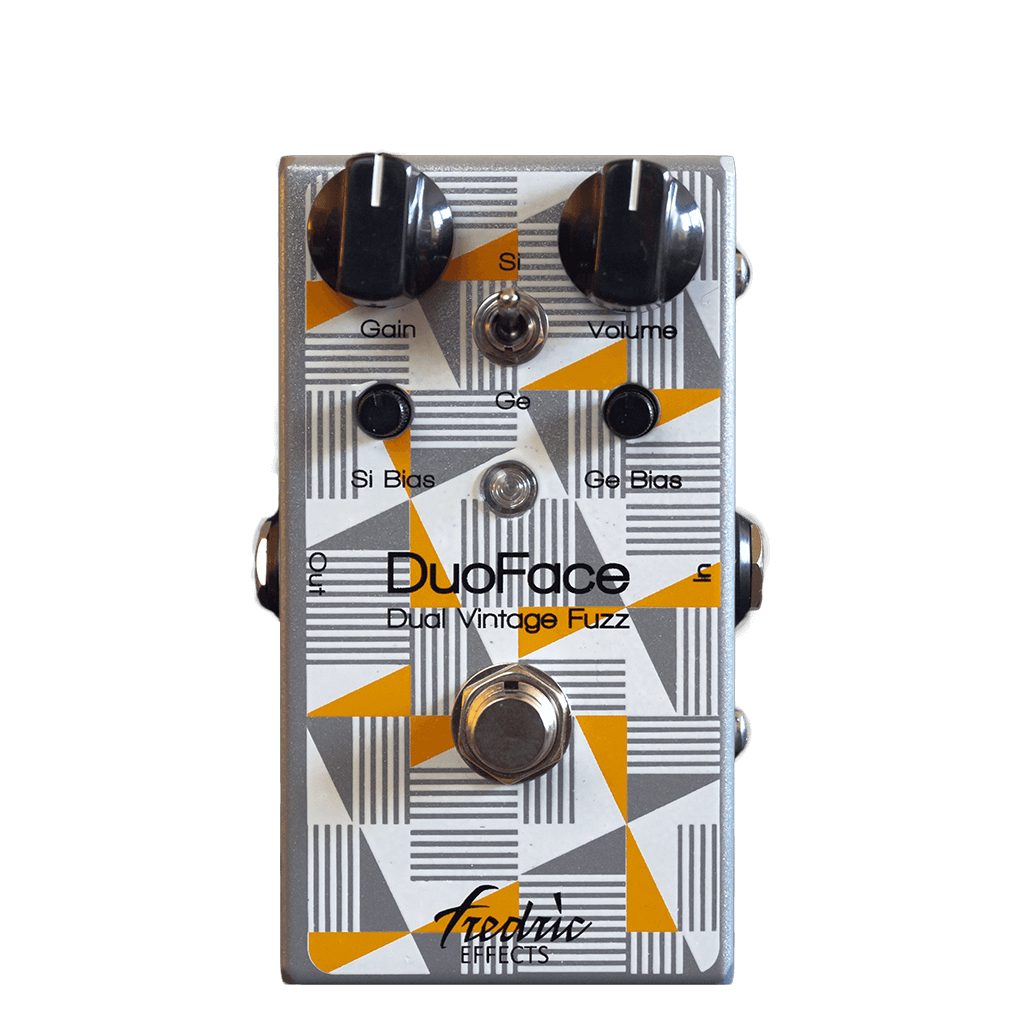 FREDRIC EFFECTS DuoFace Front Transparent | Boost Guitar Pedals