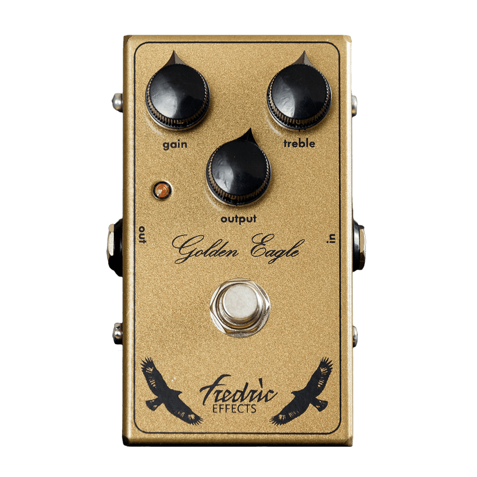 FREDRIC EFFECTS Golden Eagle Front Transparent - Boost Guitar Pedals