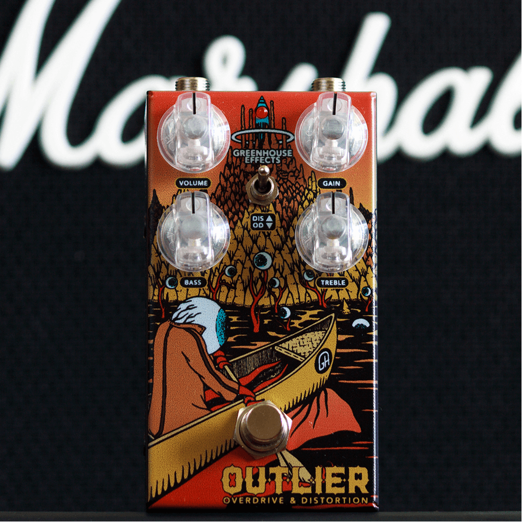 GREENHOUSE EFFECTS Outlier front context | Boost Guitar Pedals