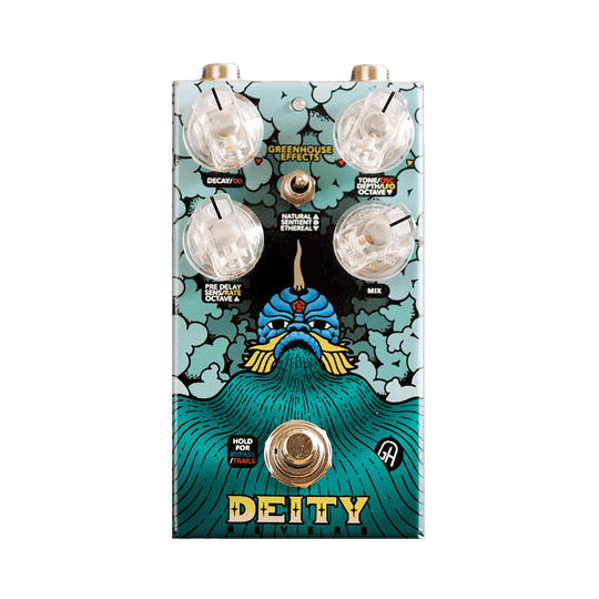 GREENHOUSE EFFECTS Deity Reverb Front Transparent | Boost Guitar Pedals