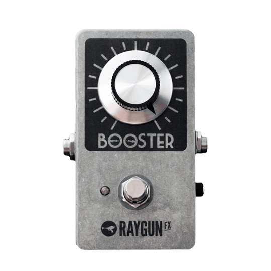 RAYGUN FX Vintage Booster front transparent - Boost Guitar Pedals