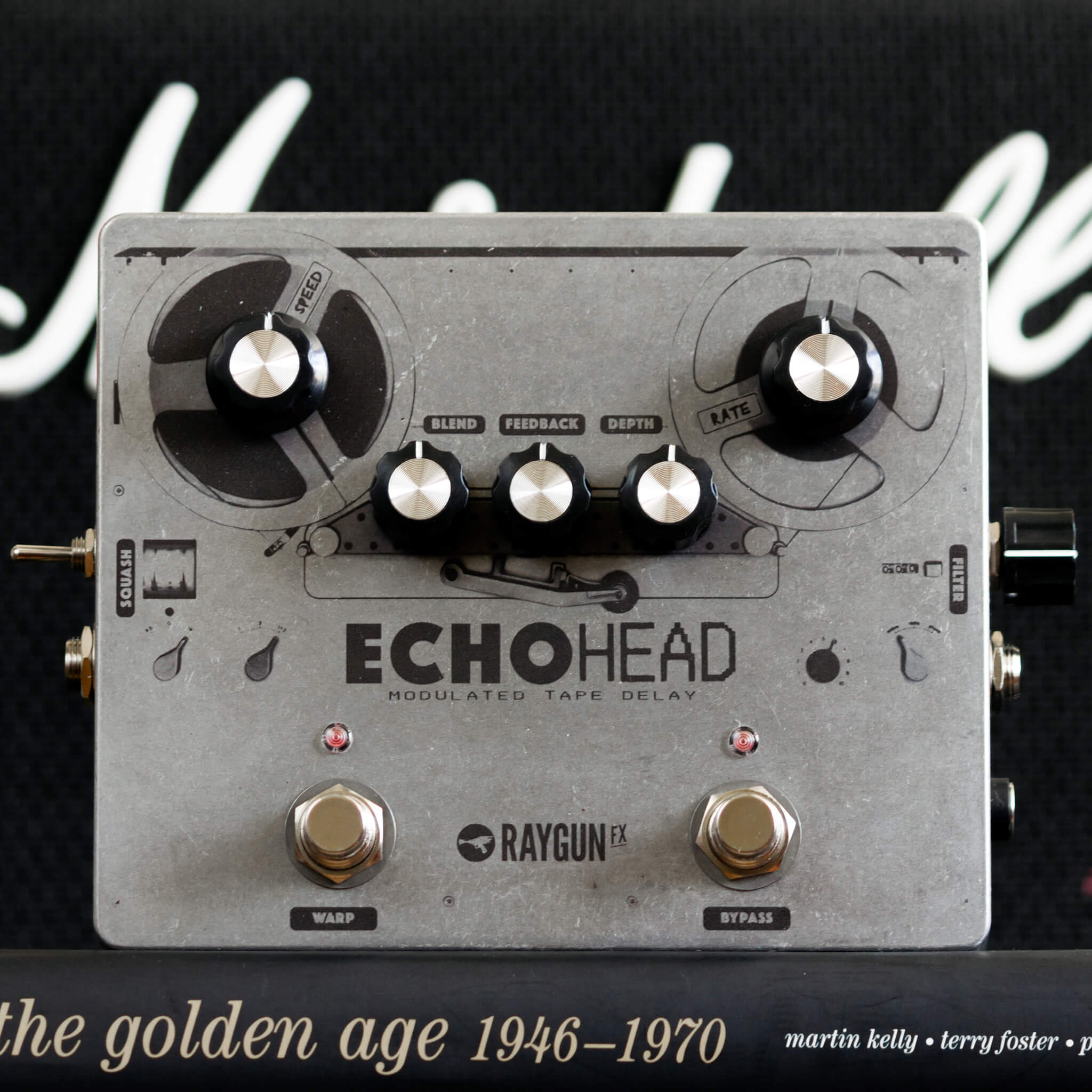 RAYGUN FX Echohead Analogue Delay Front Context - Boost Guitar Pedals