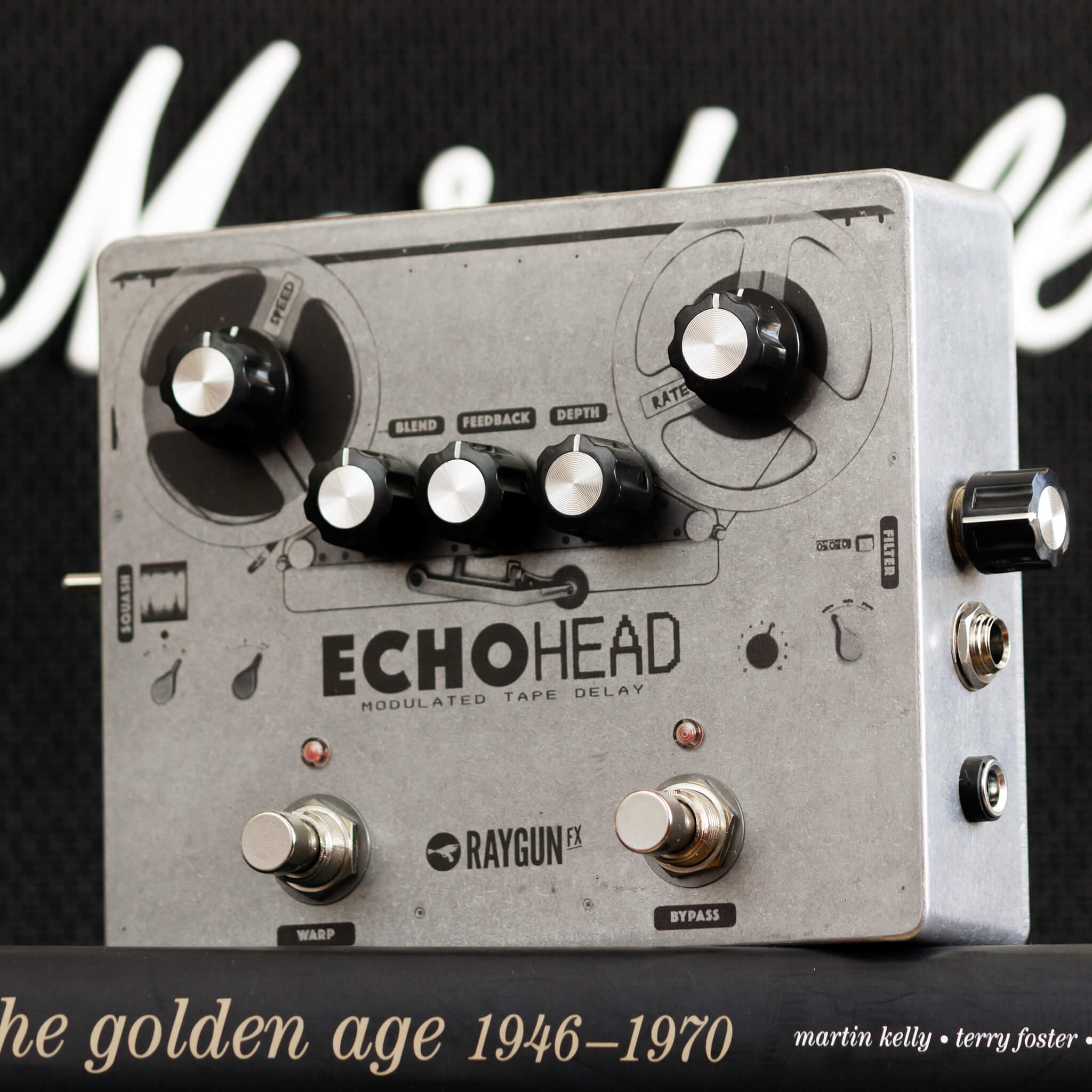 RAYGUN FX Echohead Analogue Delay Left Context - Boost Guitar Pedals