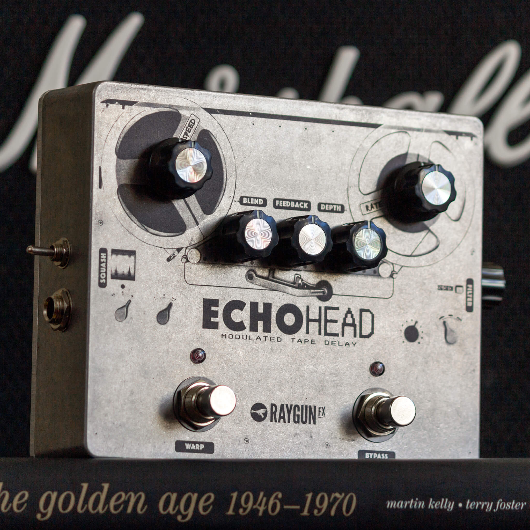 RAYGUN FX Echohead Analogue Delay Right Context - Boost Guitar Pedals