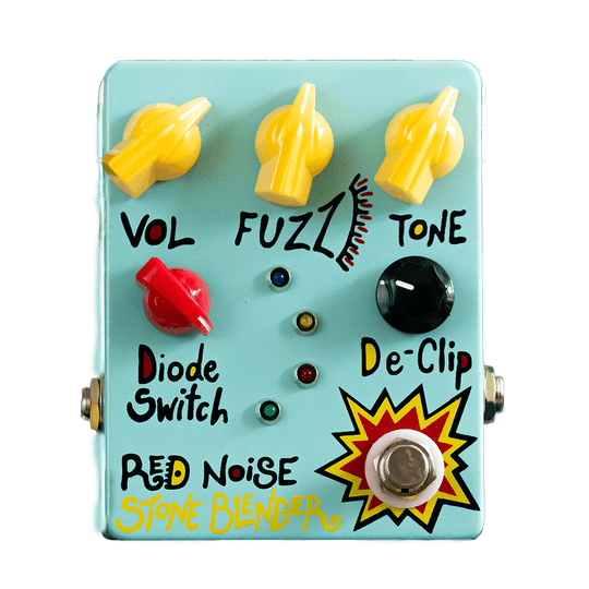 Red Noise Stone Blender Fuzz Front Transparent | Boost Guitar Pedals