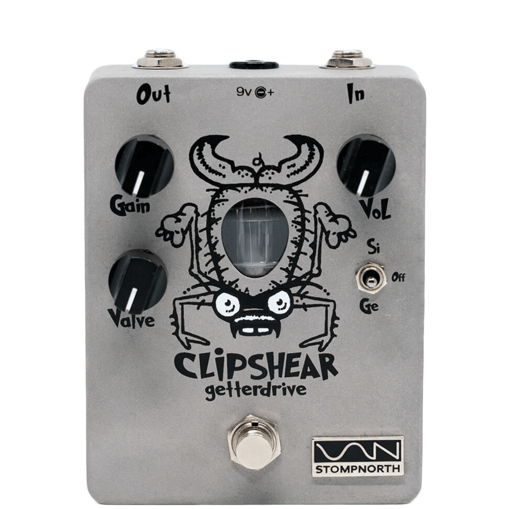 STOMPNORTH Clipshear Getter Drive front transparent | Boost Guitar Pedals