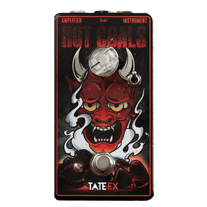 Tate FX Hot Coals Germanium Rangemaster Transparent Front | Boost Guitar Pedals