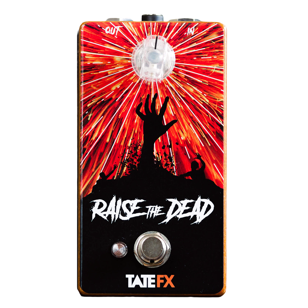 Tate FX Raise The Dead Silicon Fuzz Front Transparent | Boost Guitar Pedals