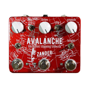 ZANDER CIRCUITRY Avalanche Harmonic Clipping Trifecta front - Boost Guitar Pedals
