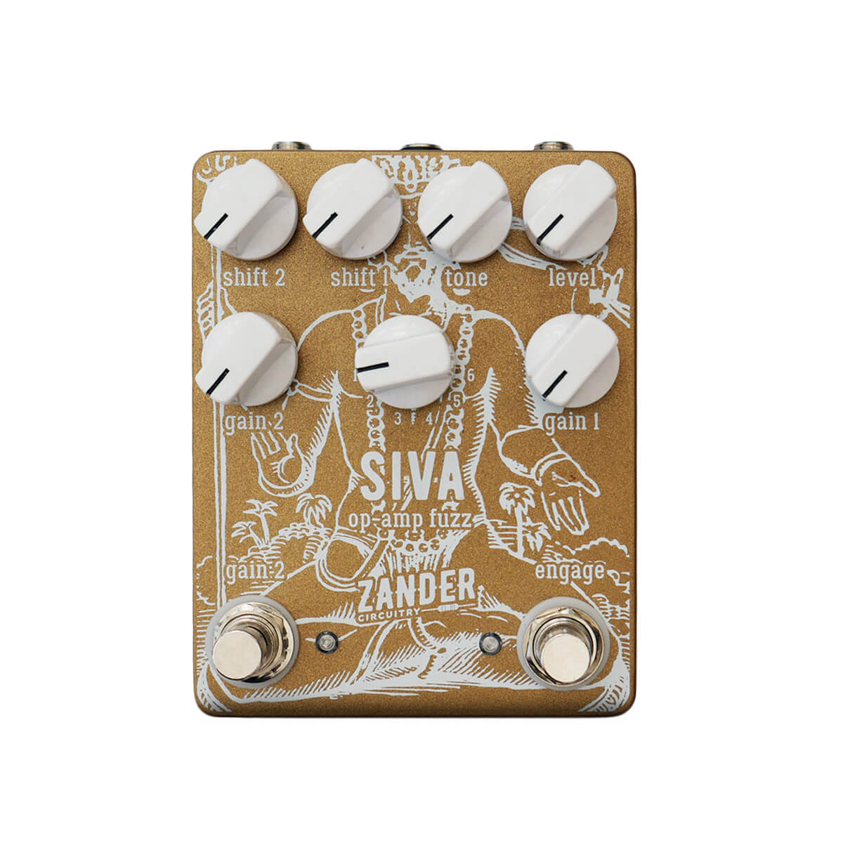 ZANDER CIRCUITRY Siva front - Boost Guitar Pedals