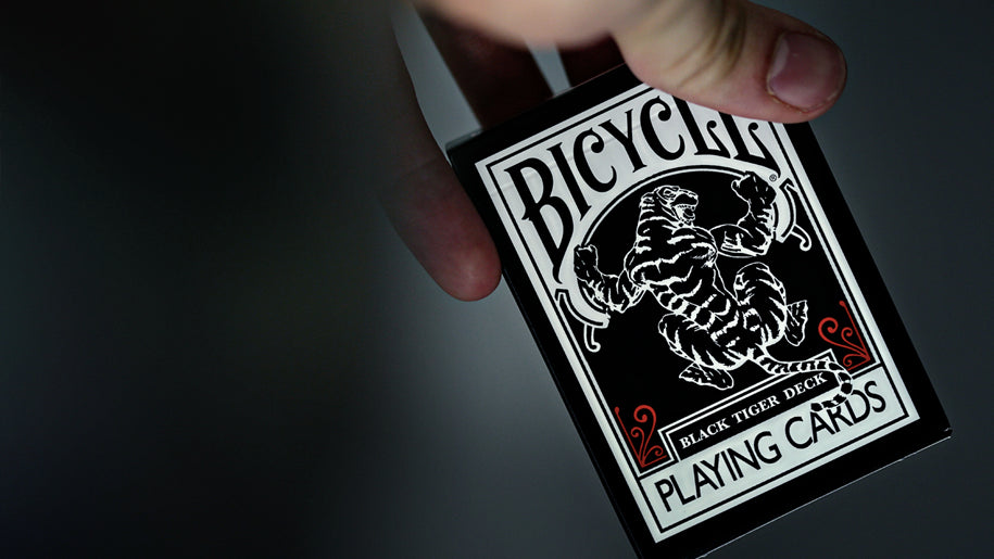 Bicycle Black Tiger Deck Playing Cards Red Ellusionist