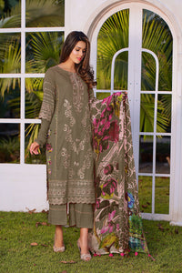 123629- Printed Embroidered Lawn 3PC