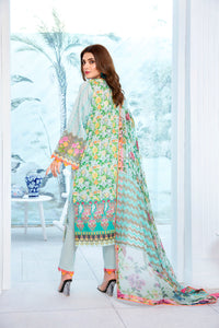 123633- Printed Embroidered Lawn 3PC