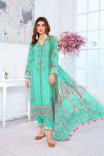 Load image into Gallery viewer, 123636- Printed Embroidered  Lawn 3PC