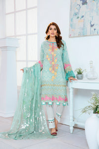 123666- Printed Embroidered Masuri 3PC