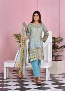 121214- Embroidery Printed Lawn 3PC