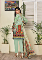 Load image into Gallery viewer, 12802- Digital Printed Lawn 3PC