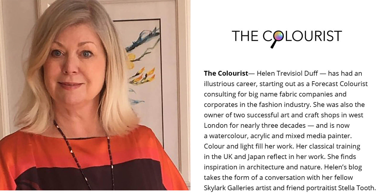 Biography and photo of The Colourist blogger Helen Trevisiol Duff
