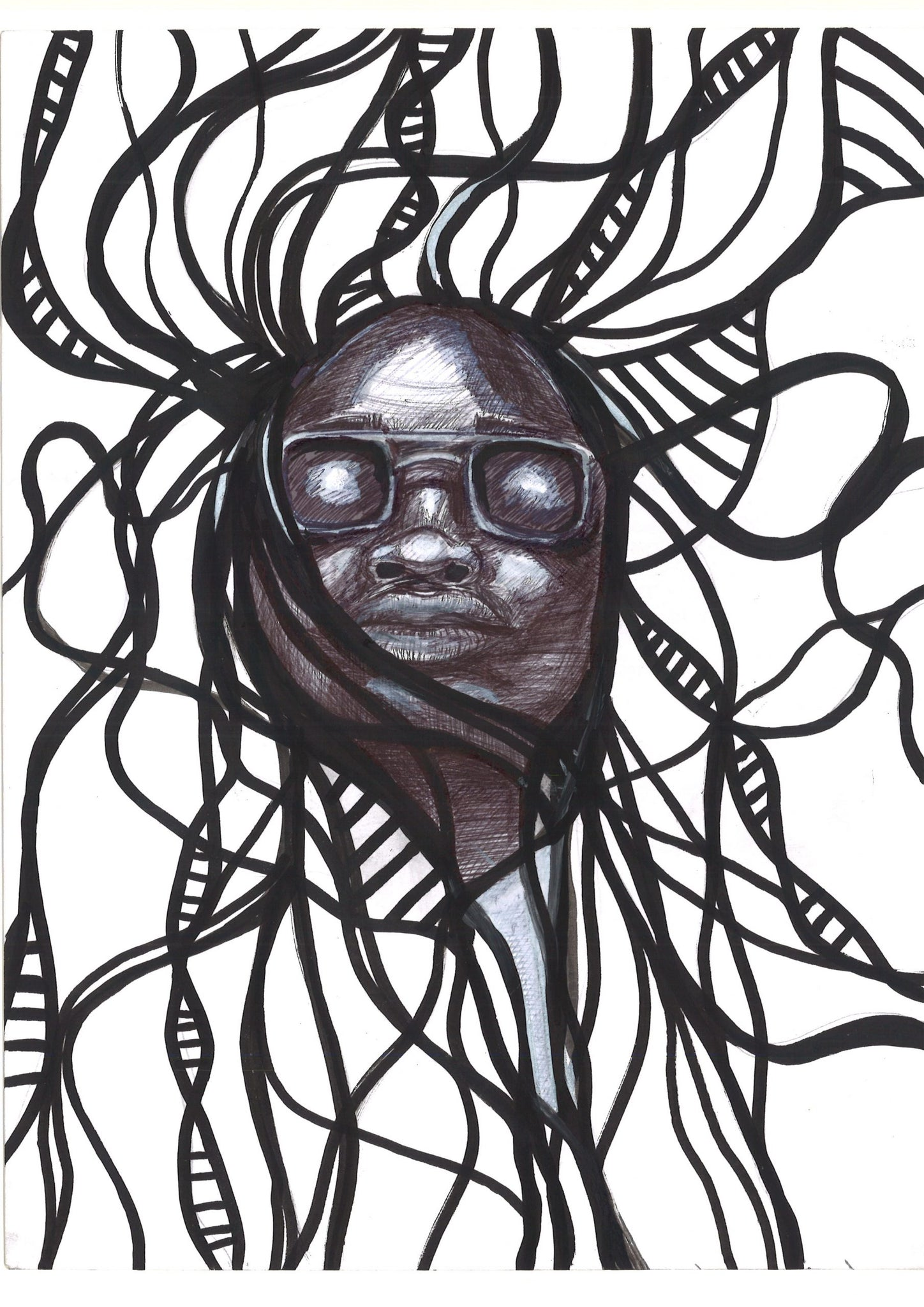 Identity ink on A4 paper by Joel Sydenham