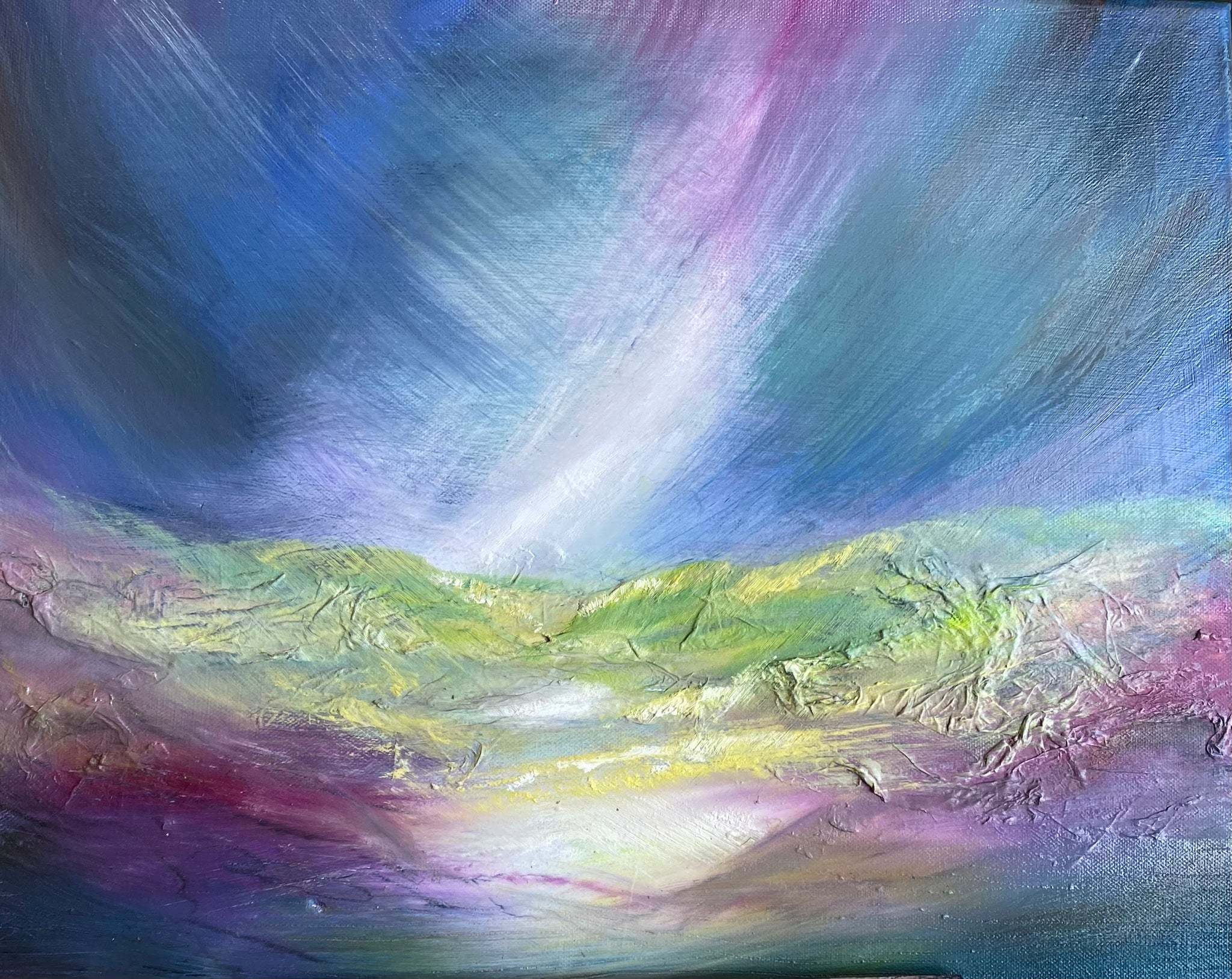 Cragg Vale oil on canvas original artwork by Helen Trevisiol Duff