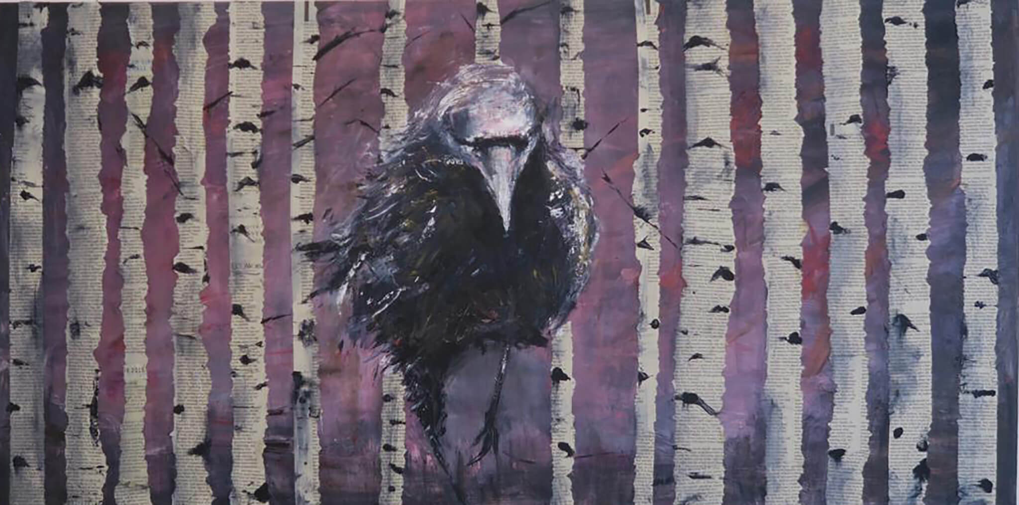 Raven in the Woods by Sarita Keeler