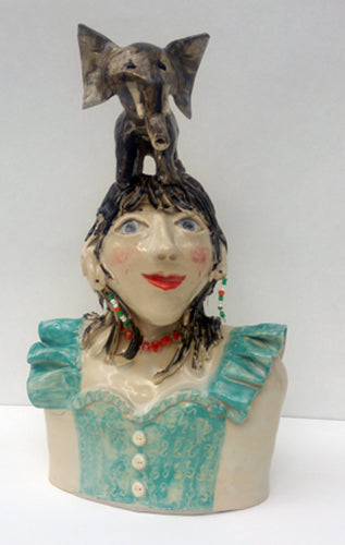 She never forgets ceramic by Vivien Phelan
