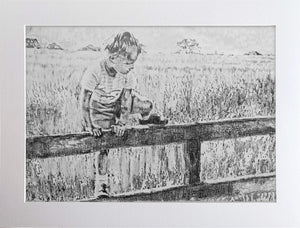 A Shropshire Lad Pencil on Paper Artwork by Stella Tooth Display