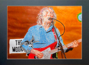 Albert Lee at the Half Moon Putney mixed media on painting artwork by Stella Tooth-P