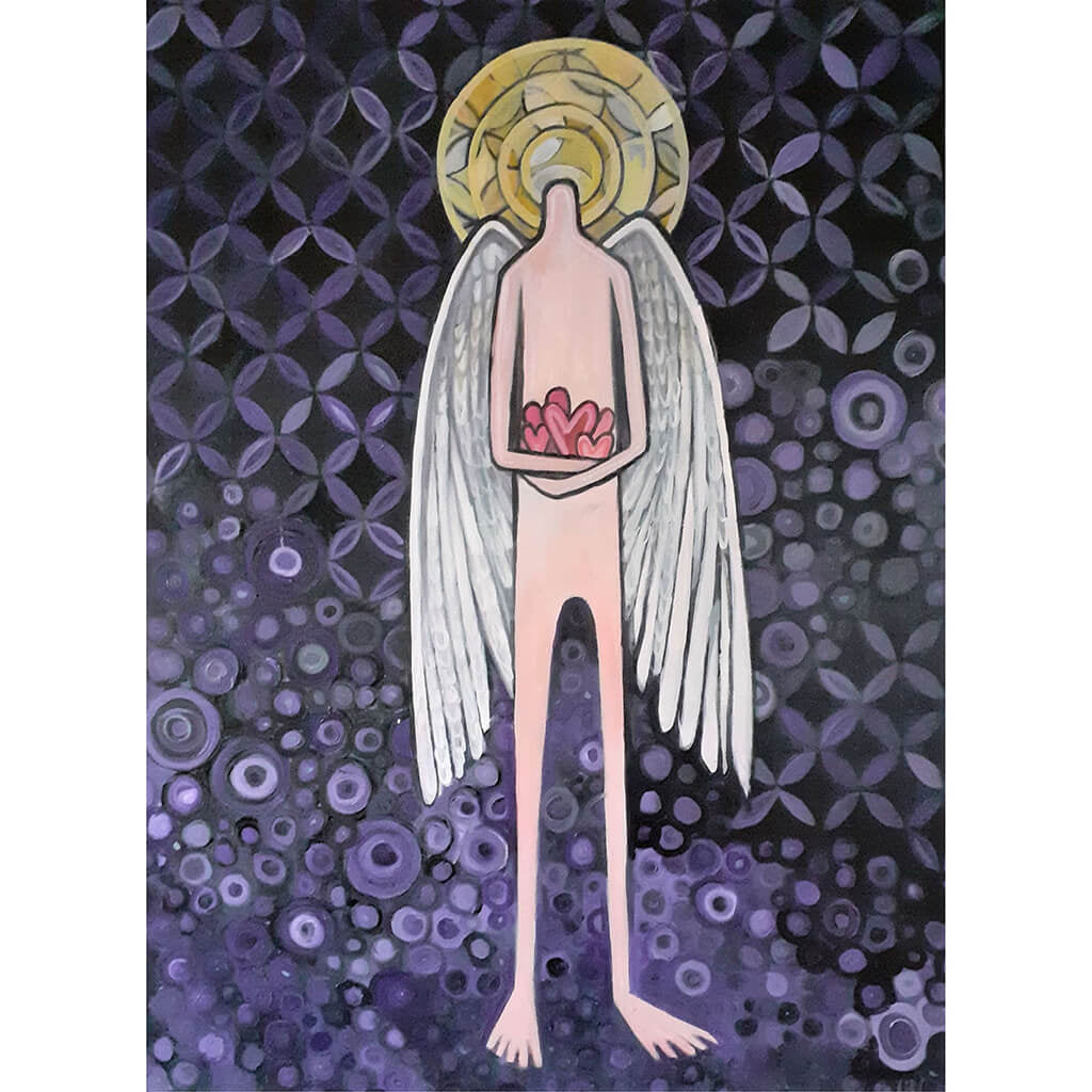Angel by Wilf Frost Artist Oil on Canvas