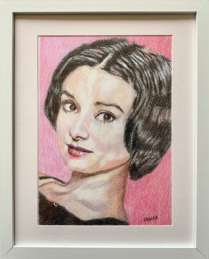 Audrey Hepburn pencil on paper by Stella Tooth