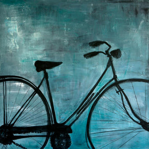 Blue Bike by Sarita Keeler Acrylic