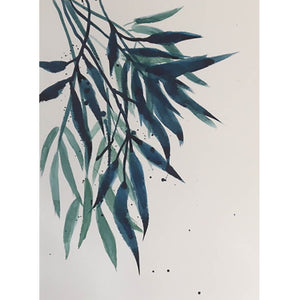 Blue Leaves by Helen Trevisiol Duff Watercolour Giclee Print