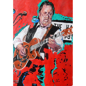 Bobby Cochran at the Half Moon Putney by Stella Tooth Mixed Media Art