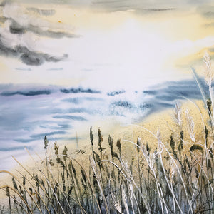 By The Sea by Helen Trevisiol Duff giclée print detail ocean