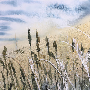 By The Sea by Helen Trevisiol Duff giclée print detail sand