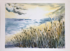 By The Sea by Helen Trevisiol Duff giclée print display
