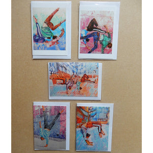 A Variety Pack of Acrobat Blank Art Cards by Stella Tooth