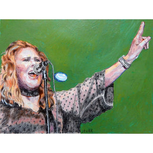 T'pau Carol Decker mixed media on paper artwork by Stella Tooth