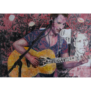 Chesney Hawkes at the Half Moon Putney by artist Stella Tooth Mixed media