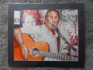 Chip Hawkes ex Tremeloes by Stella Tooth Mixed media on paper